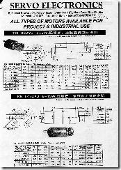 Servo Electronics - Motors catalogue